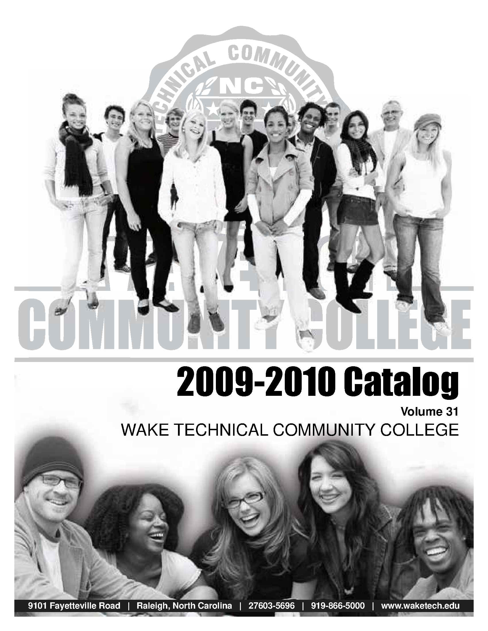 Wake Technical Community College Catalog 2009 2010 State Publications Ii North Carolina Digital Collections