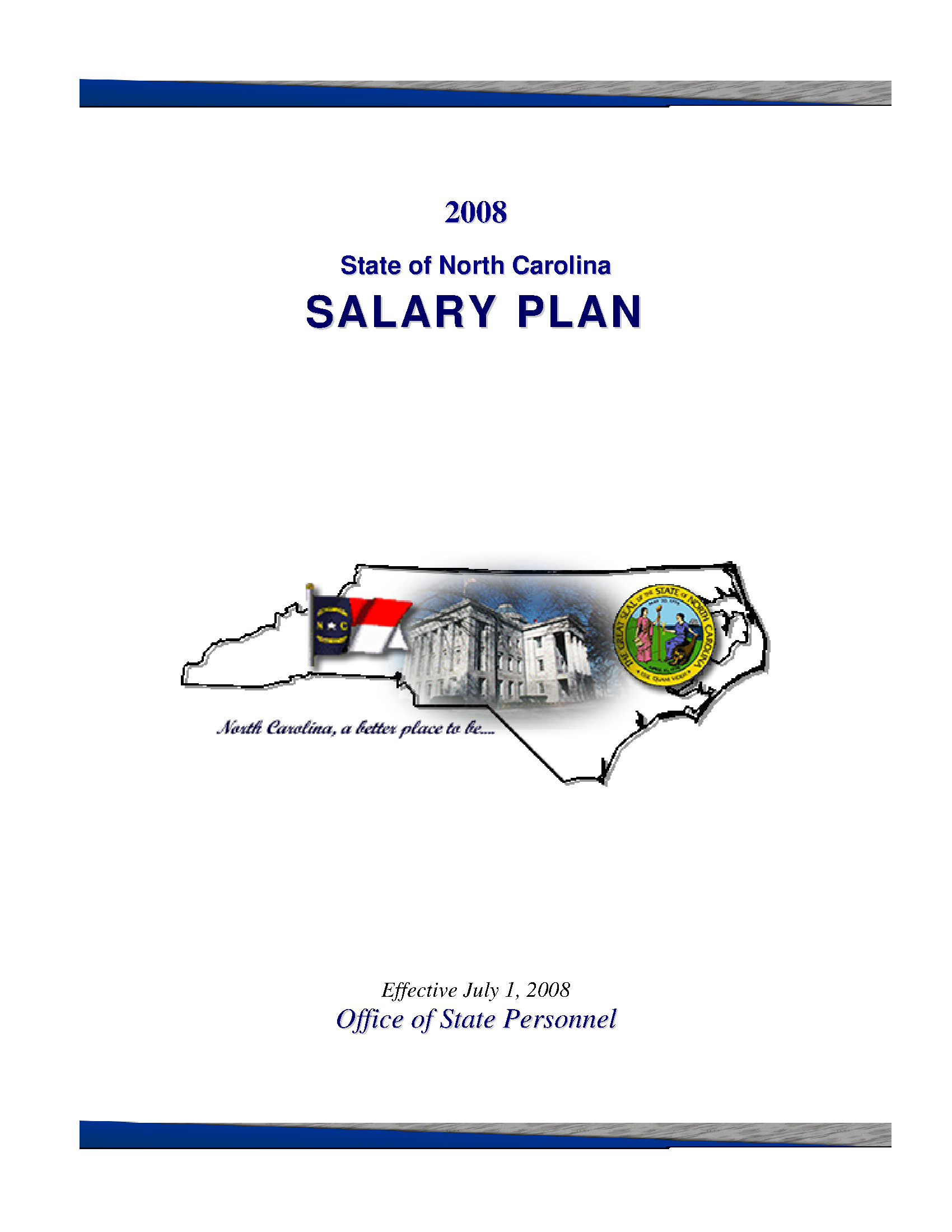 Salary Plan State Of North Carolina 2008 July 1 State Publications North Carolina Digital Collections
