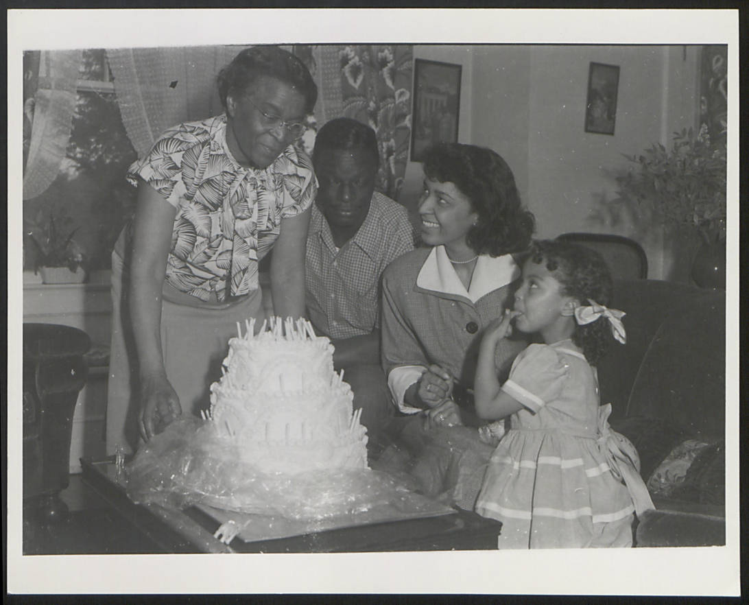 item thumbnail for Dr. Brown with Maria, Nat King, and Cookie Cole