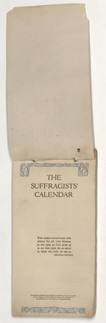 The Suffragists' Calendar, a year-book for every thinking woman