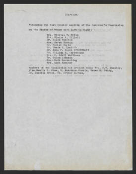 Commission. Publicity. Photograph of assembled Commission, October 31, 1964
